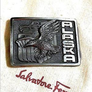 🖤1990 VTG Alaska eagle 🦅 belt buckle